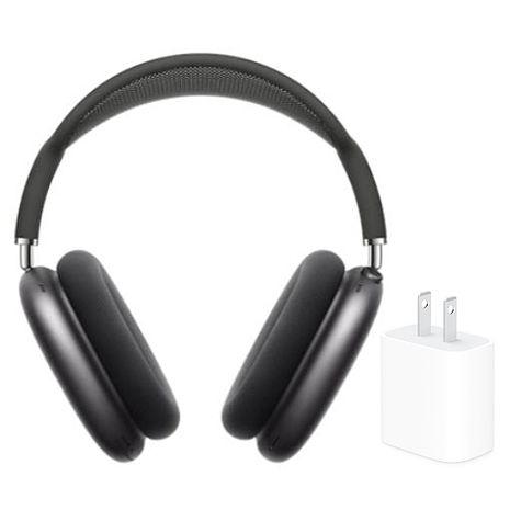 【超值組】Apple 原廠 Airpods Max 無線耳罩式藍牙耳機 (MGYH3TA/A) 太空灰+Apple 20W
