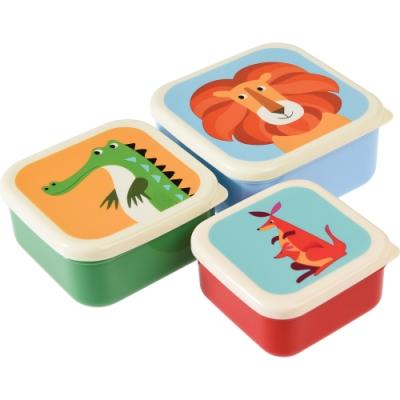 《Rex LONDON》保鮮盒3件(動物園)