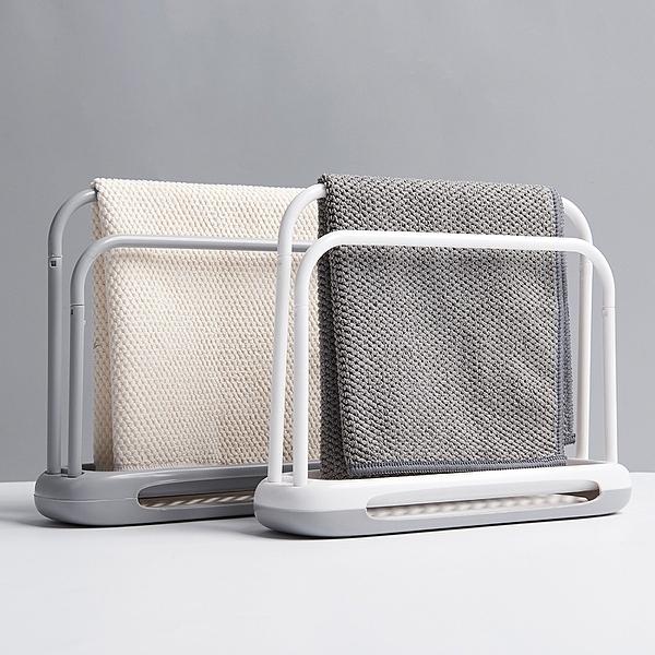 廚房抹布置物架 瀝水架 海綿毛巾收納架 (顏色隨機出貨)