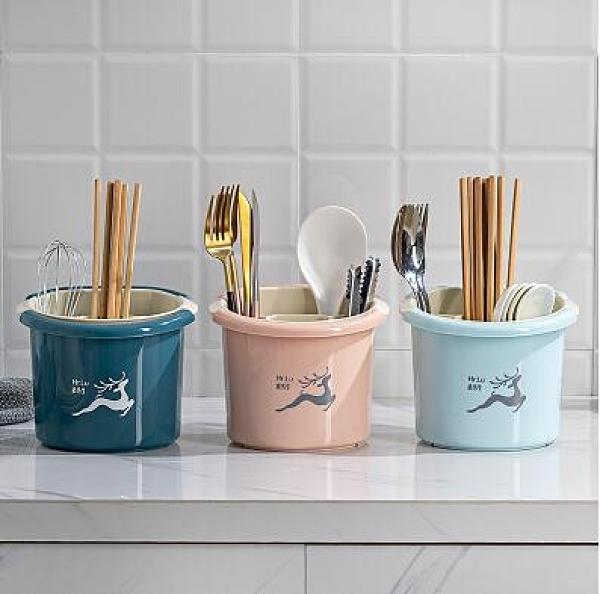 家用筷籠廚房雙層瀝水筷子簍收納筒防黴置物架餐具勺子收納盒筷架 極簡雜貨
