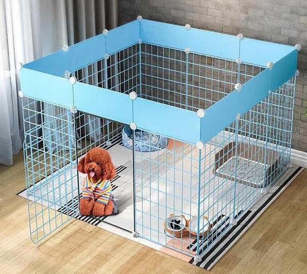 寵物圍欄 欄狗狗隔離門狗籠子泰迪博美小型犬護欄鐵室內狗窩家用柵欄TW【快速出貨八折下殺】