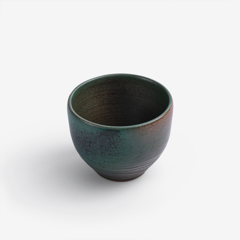 職人 青銅澄綠 100ml 陶瓷茶杯|墨綠|單品