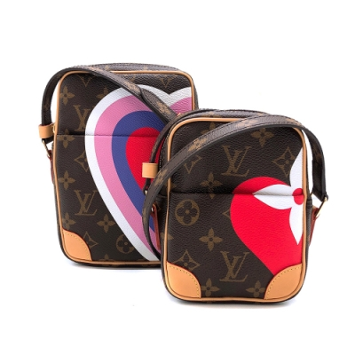 Louis Vuitton 限量款 GAME ON PANAME SET 子母斜背包(M57450-咖)