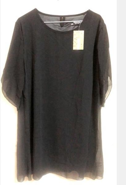 現貨XXL雪紡裙綁帶洋裝中大尺碼10271