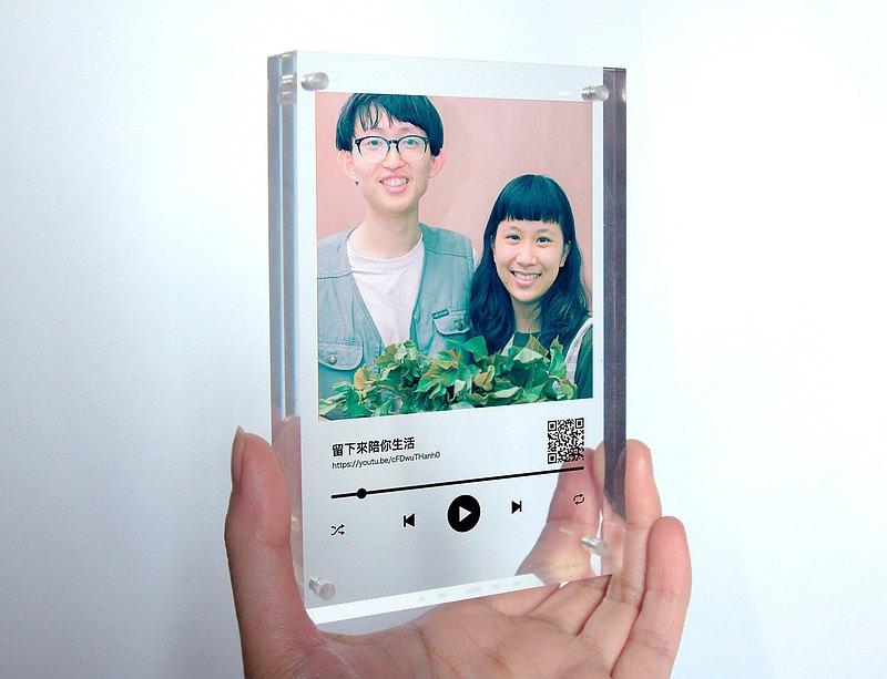 給她的情人節音樂禮物 客製情侶 朋友 家人照片 歌曲 亞克力擺飾