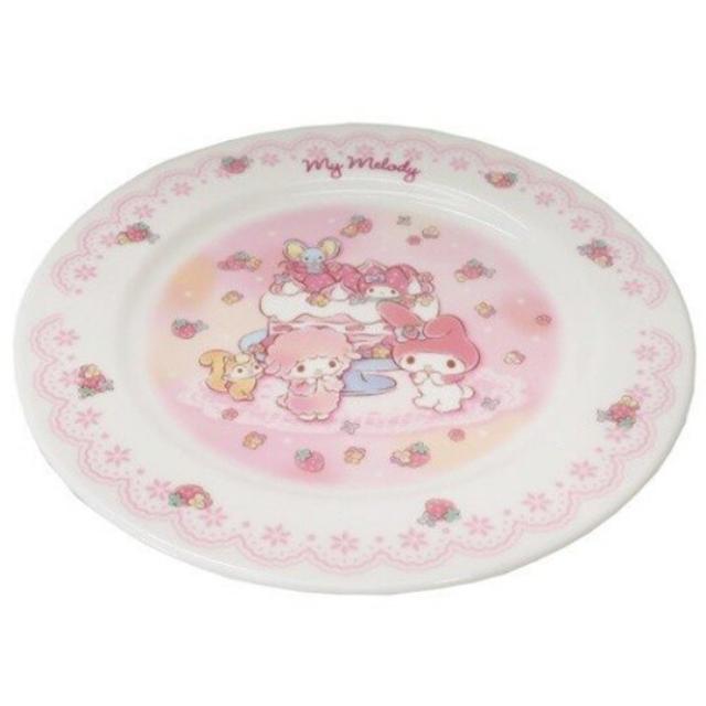 小禮堂 美樂蒂 日製 陶瓷圓盤 沙拉盤 點心盤 蛋糕盤 淺盤 金正陶器 (粉 蛋糕)