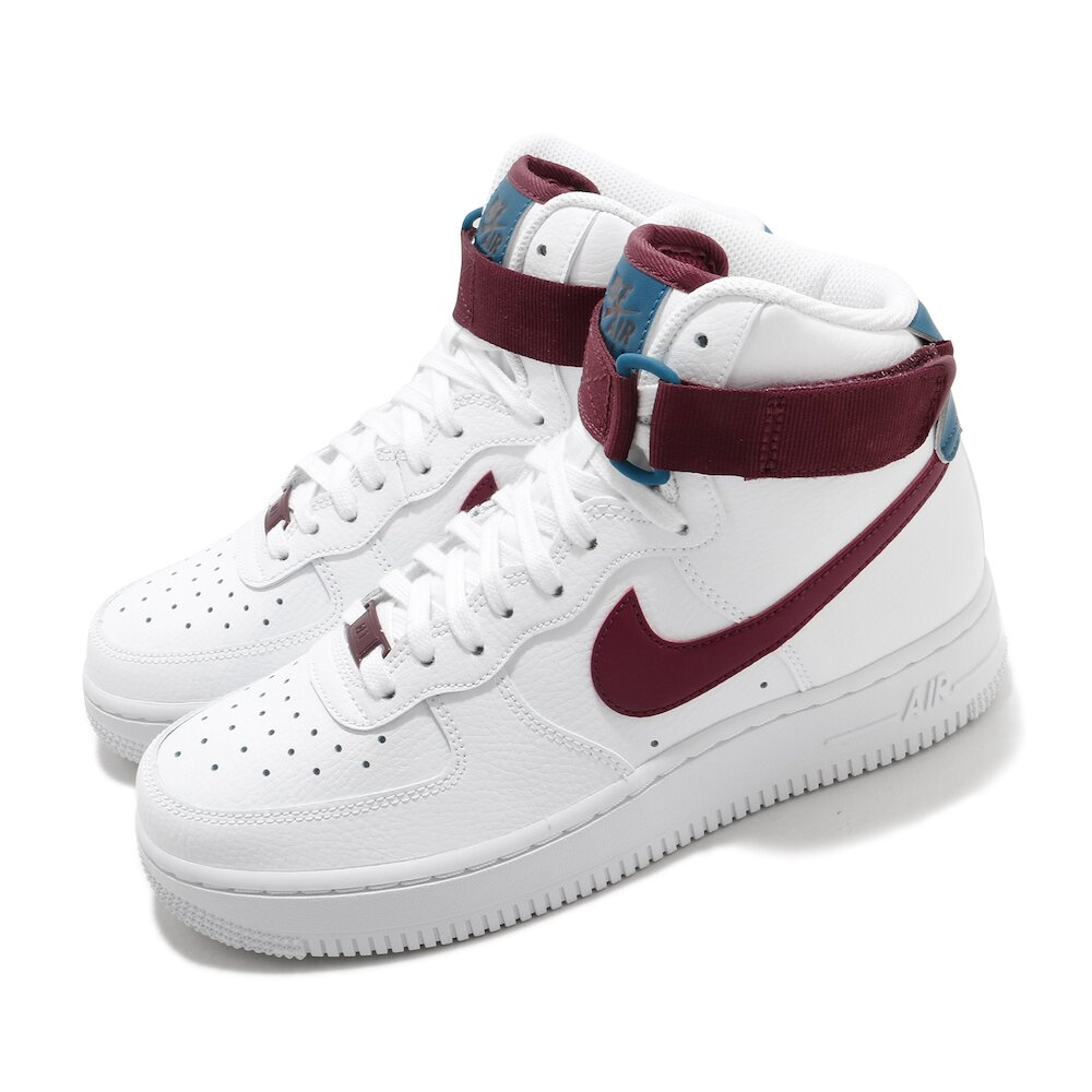 NIKE 休閒鞋 Air Force 1 High 運動 女鞋 基本款 簡約 皮革 質感 球鞋 穿搭 白 紅 [334031-119]