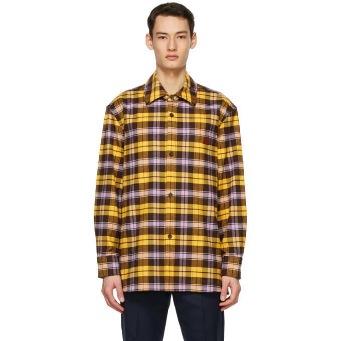 Acne Studios 黄色格纹夹克衬衫