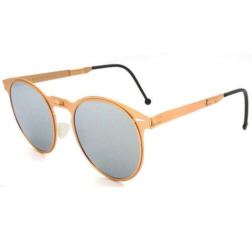 【ROAV】偏光太陽眼鏡 薄鋼折疊墨鏡 8103 C14.61 白水銀 圓框墨鏡 52mm