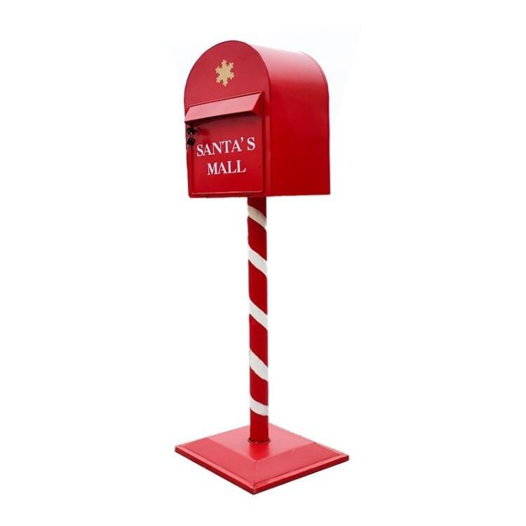 歐式復古鐵藝信報箱手工庭院裝飾實用落地擺件工業風攝影道具郵箱