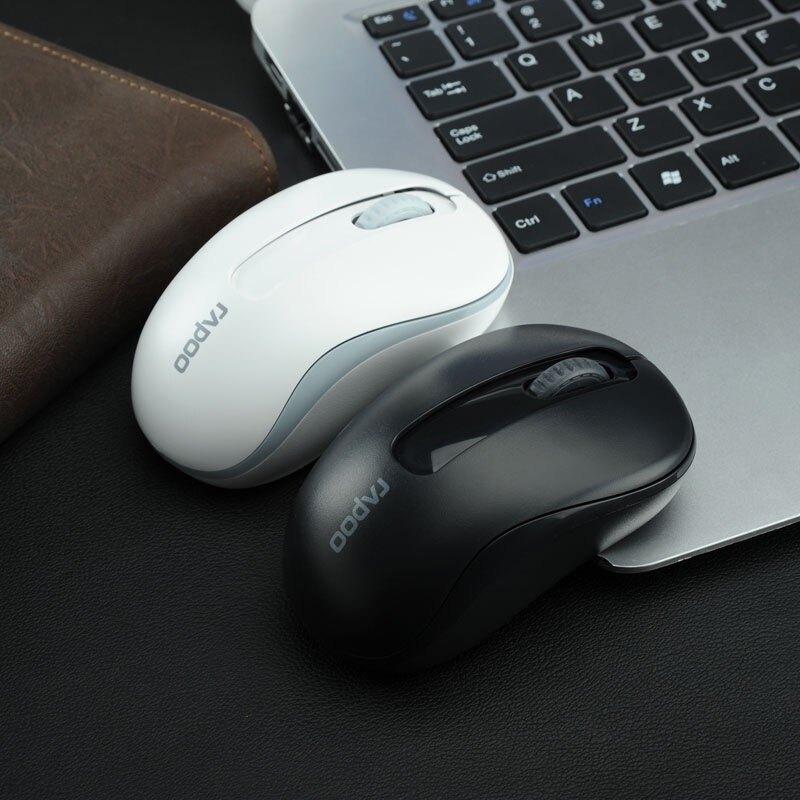 雷柏M217無線鼠標 筆記本臺式電腦無限鼠標 省電正品游戲可愛白色