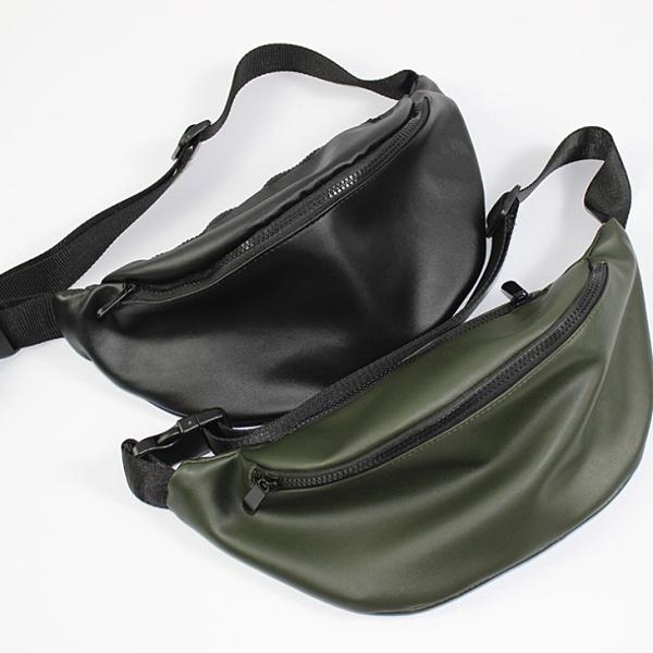 原創韓版潮流胸包簡約皮質腰包胸前斜挎包時尚男女士后背包胸包潮 後街五號