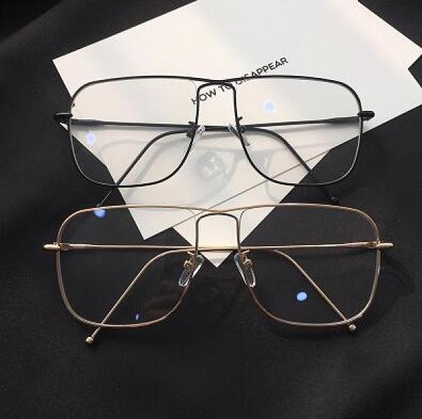 韓版潮圓臉裝飾素顏顯瘦神器眼鏡軟妹金邊方形眼鏡框女 平光鏡ins