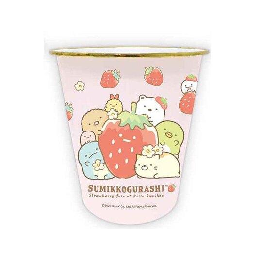 【領券折$30】小禮堂 角落生物 圓形無蓋垃圾桶 塑膠垃圾桶 圓垃圾桶 收納桶 (粉 草莓)
