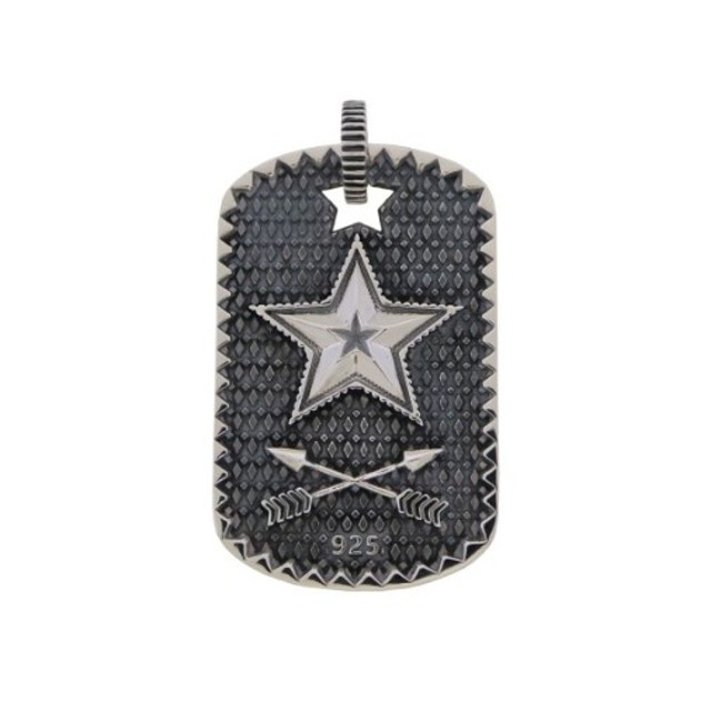 SHERIFF STAR & STAR HOLE DOG TAG WITH COIN EDGE     [USD $900]