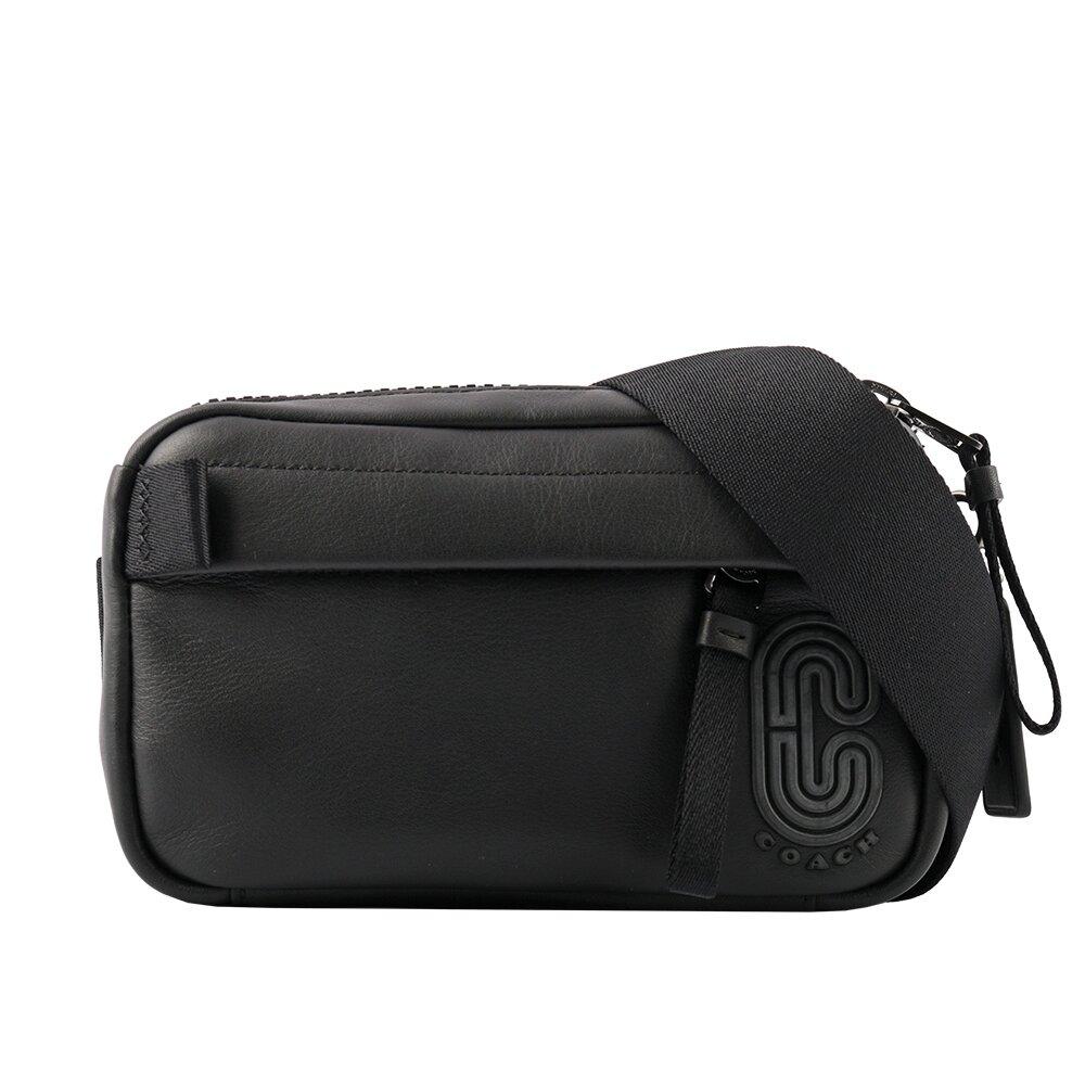 COACH C Logo 平滑皮革迷你腰包(黑色) 6786 QBBK
