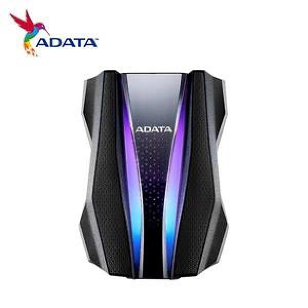ADATA威剛 HD770G RGB 2TB(黑) 2.5吋軍規防水防震行動硬碟