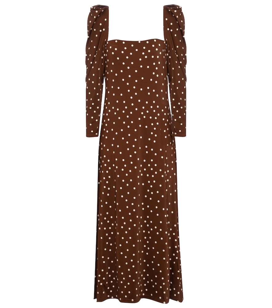 Valle De La Luna polka-dot midi dress