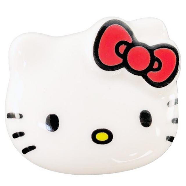 小禮堂 Hello Kitty 日製 造型陶瓷筷架 筆架 紙鎮 金正陶器 (白 大臉)