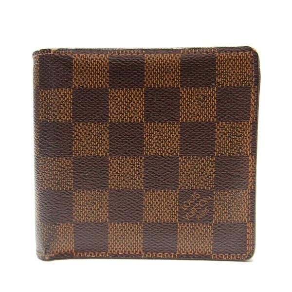 LOUIS VUITTON LV 路易威登 棋盤格兩折式短夾 Marco N61675【二手名牌BRAND OFF】