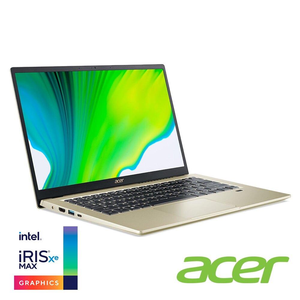 acer Swift3 SF314-510G-58TG 暮日金 宏碁超輕薄筆電/i5-1135G7/Iris Xe MAX-4GB/8G/512G PCIe/14吋 FHD IPS/W10/含原廠包包