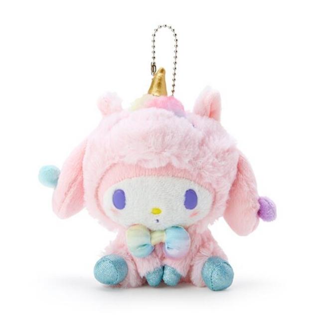 小禮堂 美樂蒂 絨毛吊飾 玩偶吊飾 玩偶鑰匙圈 包包吊飾 (粉 糖果獨角獸)
