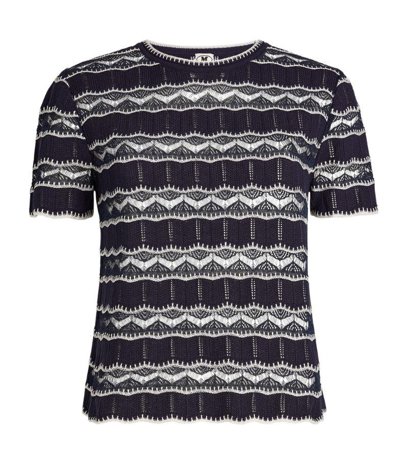 M Missoni Short-Sleeved Stripe Crop Top