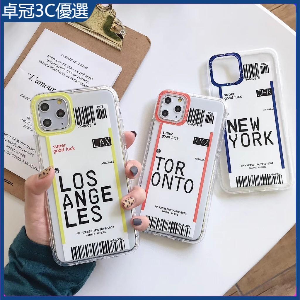 卓冠 登機牌 iPhone 11 12 pro max XS X XR SE2 6/7/8 PLUS 手機殼 保護套