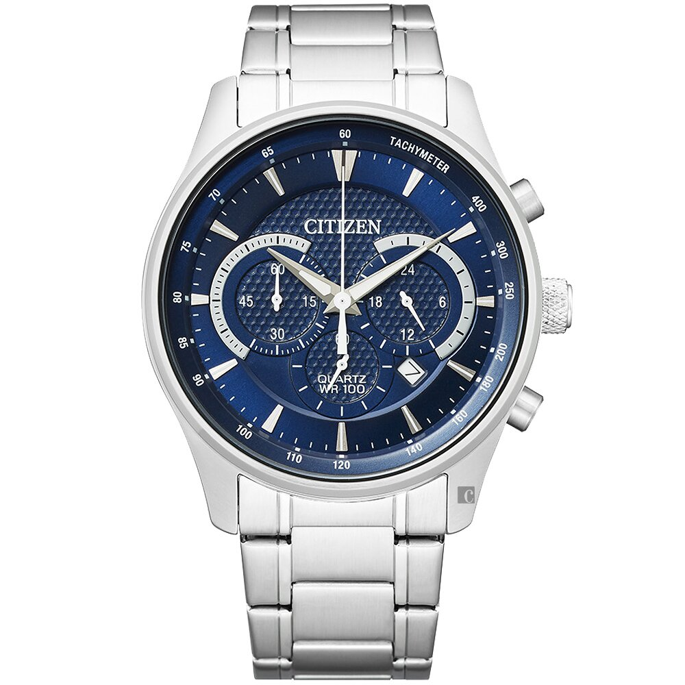 CITIZEN 星辰 Chronograph 計時手錶-藍/42mm(AN8190-51L)