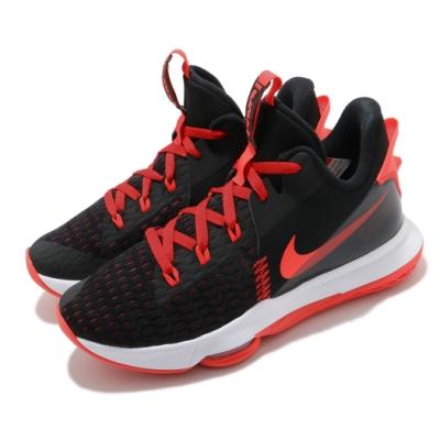 Nike 籃球鞋 Lebron Witness V 男鞋 氣墊 舒適 避震 路跑 健身 明星款 黑 紅 CQ9381005