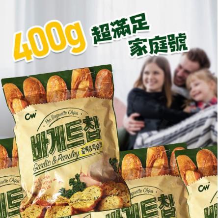 韓國 400g CW 大蒜麵包 餅乾 吐司 家庭分享包