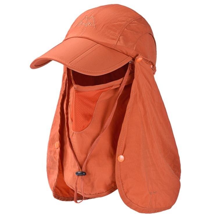 遮陽帽 防曬帽男女遮陽帽釣魚帽速乾登山透氣騎車帽面罩棒球帽遮陽帽全臉