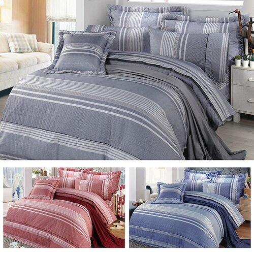 【FITNESS】精梳棉雙人四件式兩用被床包組-安德里 (3款)