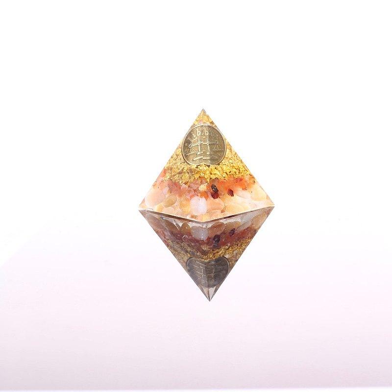 快速出貨星座系列天秤座金字塔-奧剛金字塔Orgonite水晶礦石生日