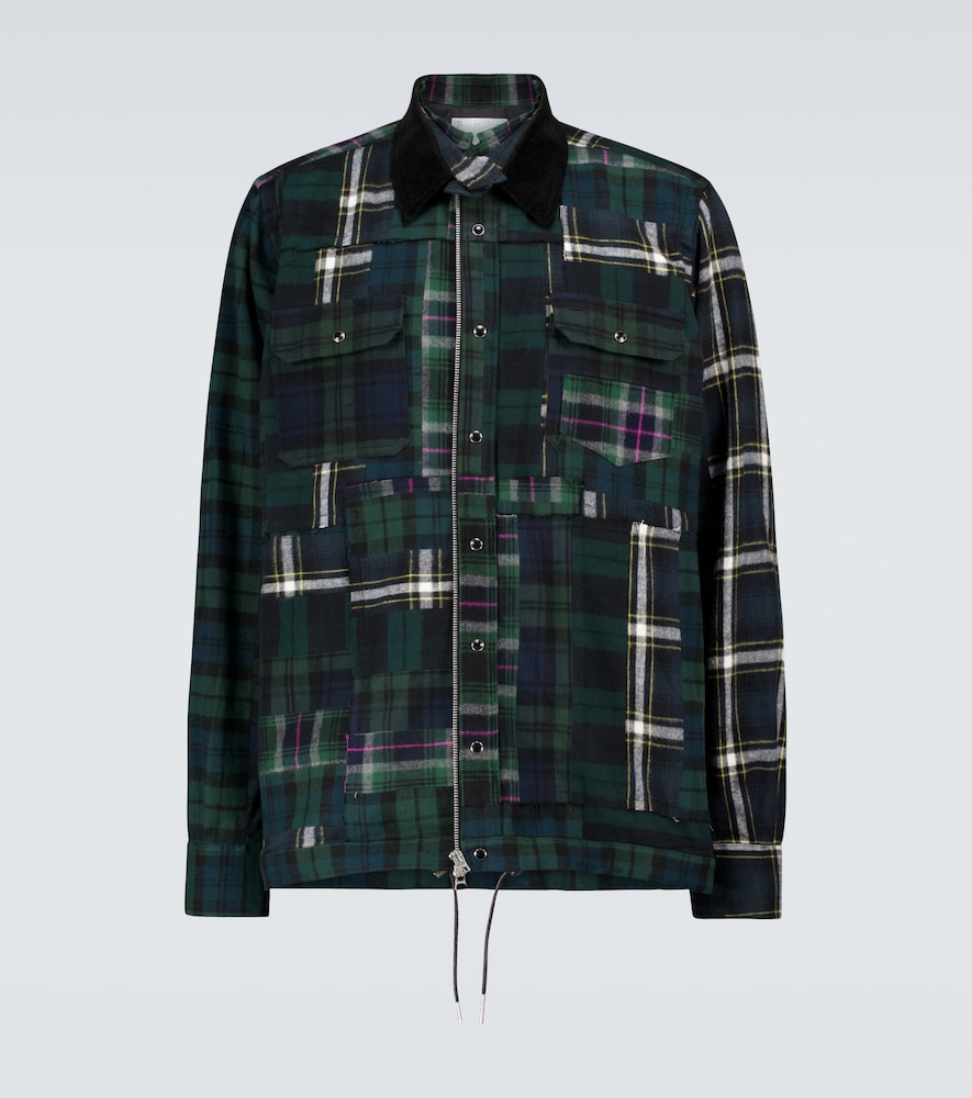 Hank Willis Thomas Plaid Mix flannel overshirt