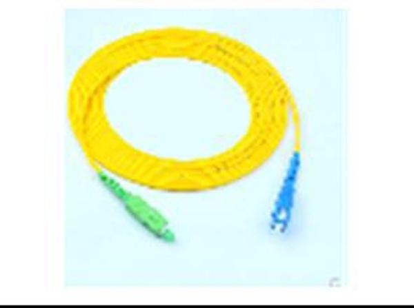 [2玉山網] 光纖跳線1對1,SC/APC TO SC/PC L=2M, 方型綠TO方型藍