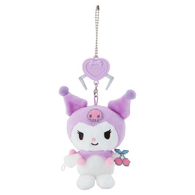 小禮堂 酷洛米 絨毛吊飾 玩偶吊飾 玩偶鑰匙圈 包包吊飾 (紫 遊戲街)