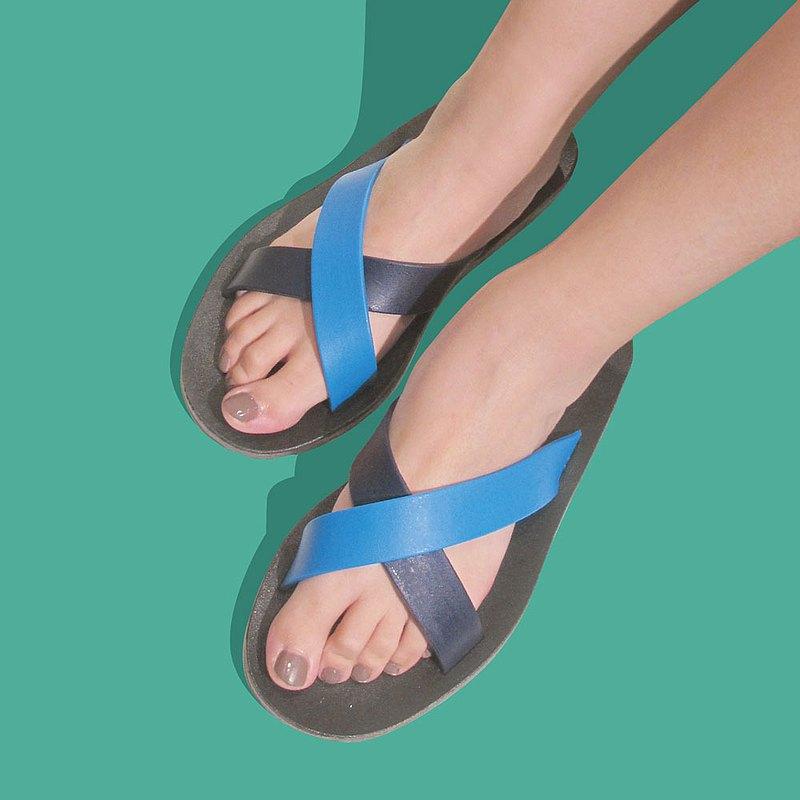 訂製配色交叉拖鞋