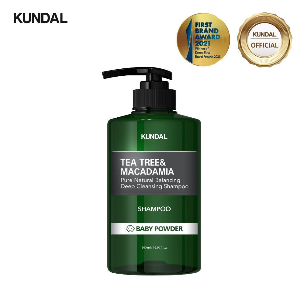 [KUNDAL] 茶樹+澳洲堅果深層潔淨洗髮精 500ml