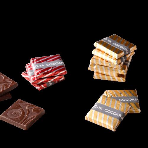 喬雅可可66%手作巧克力片(香檳金包裝) 食樂坊 送禮 情人節 巧克力 小農 可可 手工 低糖 健康 可訂做 (1盒16片)