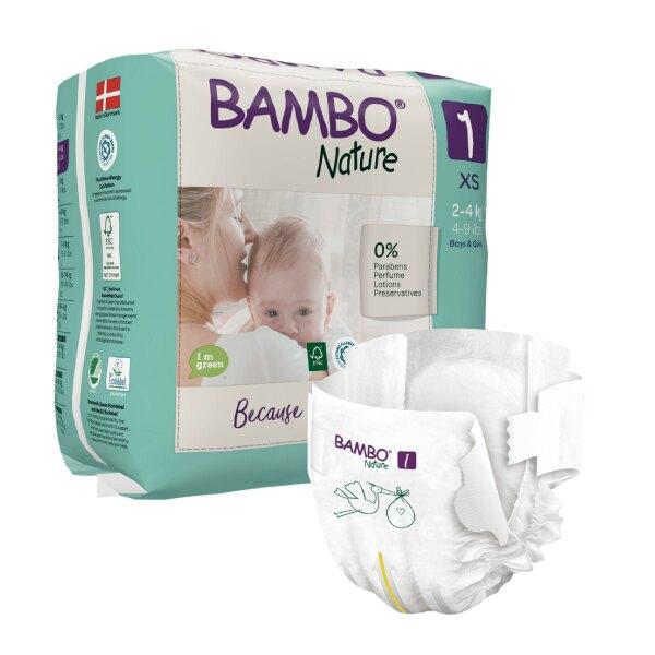 BAMBO 伴寶樂 嬰兒紙尿褲-自然風 1號 2-4kg  (22片/6包/箱)【杏一】