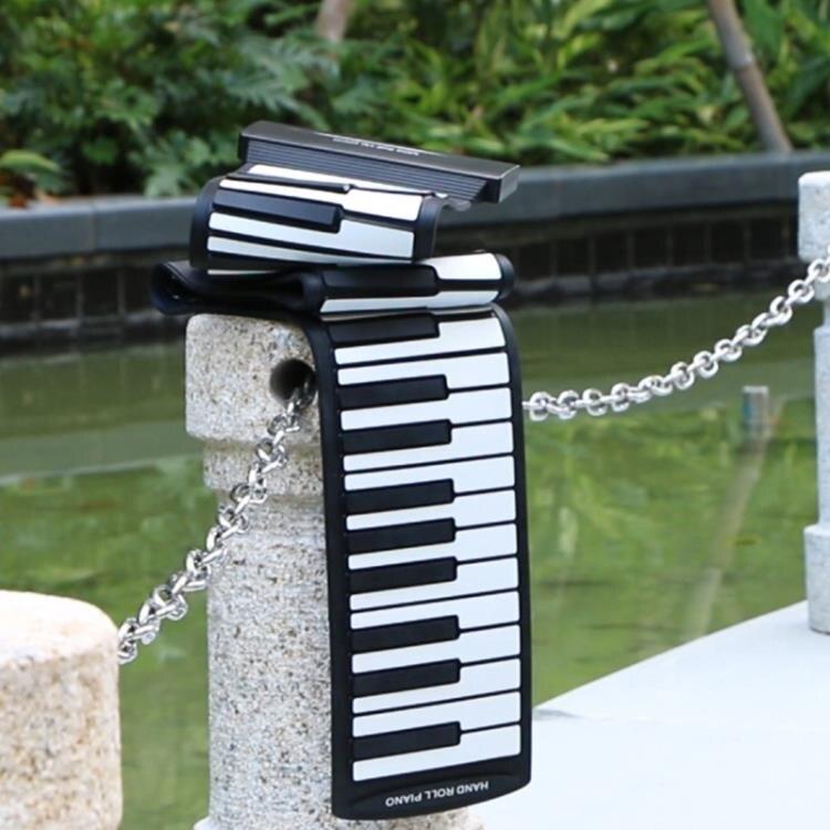 88鍵手卷鋼琴初學者鋼琴電子鋼琴便攜鍵盤矽膠軟鋼琴加厚 ciyo黛雅