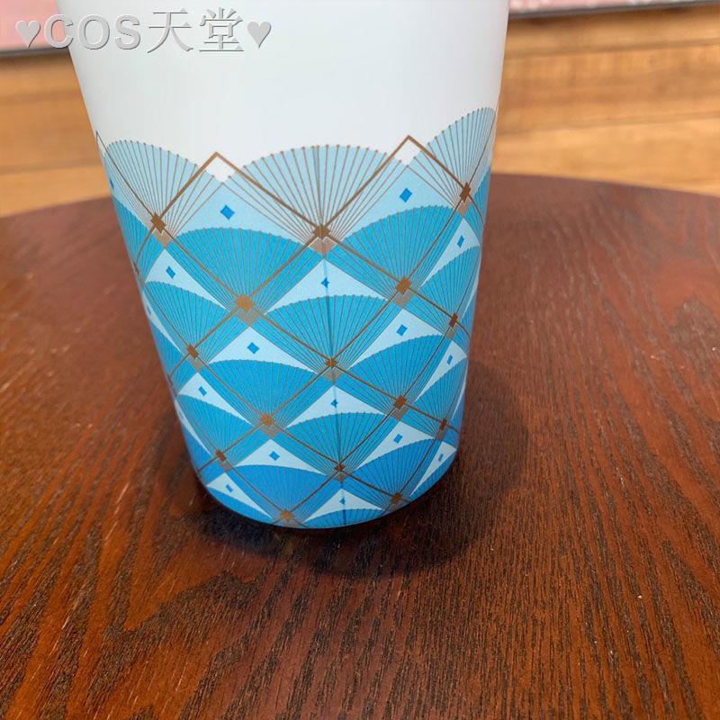 ∈正品星巴克杯子周年慶魚鱗雙層陶瓷馬克杯咖啡喝水禮物個性355ml