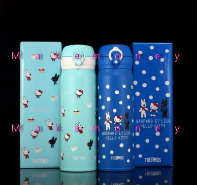 Thermos膳魔師 JNL-500 Hello Kitty 和 麗莎與卡斯柏不銹鋼保溫瓶 保溫杯 台灣限定款
