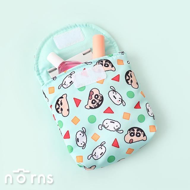 蠟筆小新掀蓋型生理包 幾何圖形- Norns 正版 睡衣圖案 衛生棉包 隨身化妝包 收納包
