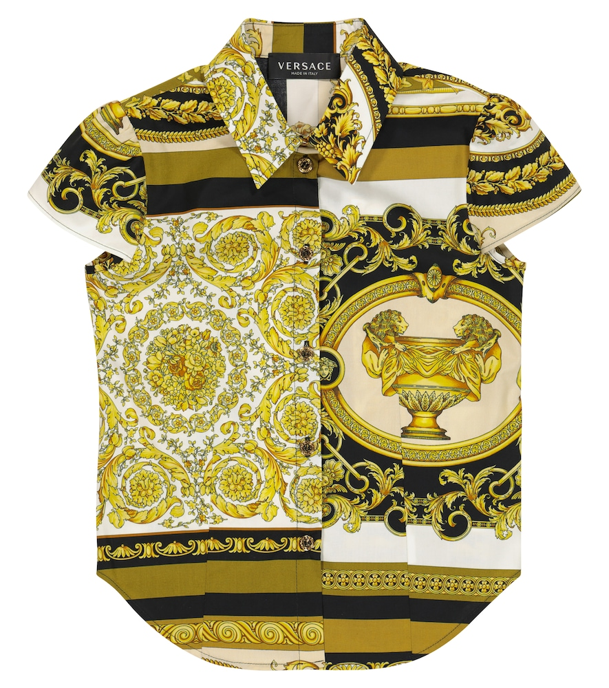 Barocco Mosaic cotton shirt