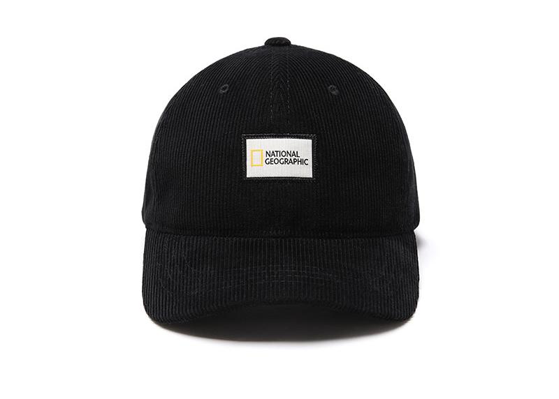 【毒】National Geographic 國家地理 corduroy ball cap 燈芯絨休閒帽 黑色 中性