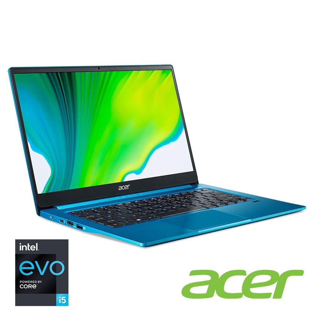 acer Swift3 SF314-59-50FZ 天青藍 宏碁超輕薄筆電/i5-1135G7/8G/512G PCIe/14吋 FHD IPS/W10/含原廠包包及滑鼠