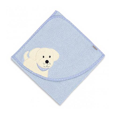 【彌月禮推薦】STERNTALER 哈迪狗純棉包巾-藍 C-7121515-B0