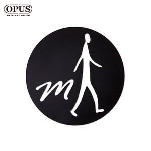 OPUS 歐式鐵藝廁所標示牌/WC洗手間(男生圓款/邂逅)黑男生圓款 / 鏤空黑
